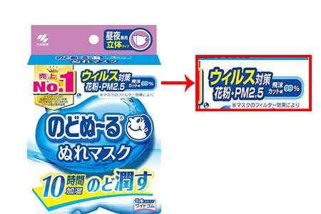 Kobayashi Nodonu-Ru Mask หน้ากากอนามัยเพิ่มความชุ่มชื้น ป้องกันฝุ่น PM2.5 (ไม่มีกลิ่น)