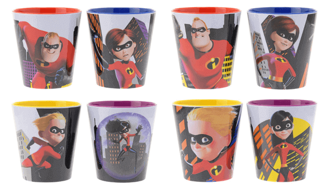 The Incredibles Cup Set เซ็ตรวมแก้ว 4ใบ