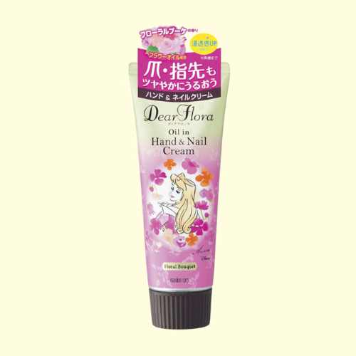 [Mandom] Dear Flora - Oil in Hand & Nail Cream กลิ่น Floral Bouquet ลายออโรร่า 60g