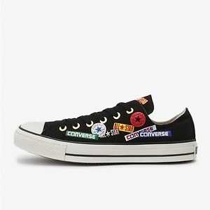 CONVERSE ALL STAR WEARABLESTICKER OX (สีดำ)