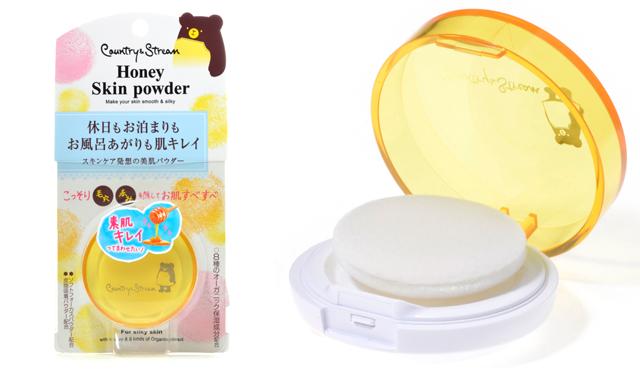 Country & Stream  Honey Skin Powder แป้งพัฟปกปิดรูขุมขน ออแกนิก 4.5g